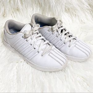 K-Swiss white leather classic sneakers
